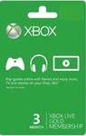 Xbox Live 3 Month Gold Card (Xbox 360 / Xbox One)