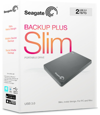Seagate Backup Plus Portable Hard Drive USB 3.0 - 2TB - Black - Cover