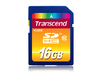 Transcend High Performance SDHC Class 10 Memory Card - 16GB