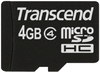 Transcend Ultra Performance MicroSD Class 4 Memory Card - 4GB - with Normal SDHC Adaptor