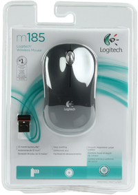Logitech M185 Wireless Mouse - Grey - Cover
