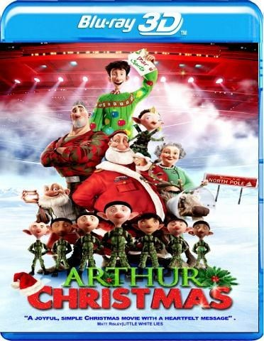 arthur christmas 3d blu ray cover - Arthur Christmas Full Movie Online