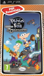 Phineas and Ferb: Across the Second Dimension (PSP) - Cover