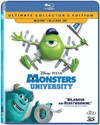 Monsters University  (3D Blu-ray) Cover