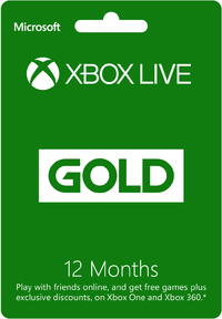 Xbox Live 12 Month Gold Card (Xbox 360 / Xbox One)