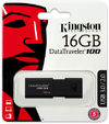 Kingston DataTraveler 100 G3 16GB DTI USB 3.0 0 Flash Drive - Black