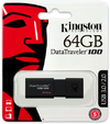 Kingston Technology - DataTraveler 100 G3 64GB USB 3.0 Flash Drive