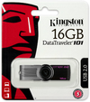 Kingston DTI USB 2.0 16GB DataTraveler 101 Gen 2 - Black USB Flash Drive
