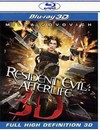 Resident Evil:Afterlife 3D (Region A Blu-ray)