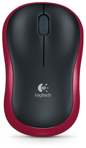 Logitech M185 Wireless Mouse - Black & Red - Cover