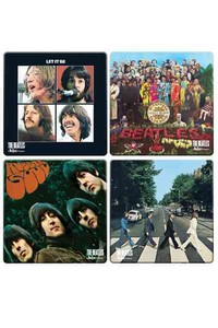 The Beatles Album Cover 4 PC. Wood Coaster Set - LLC Vandor (Accessory) - Cover