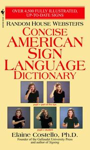 Random House Webster's Concise American Sign Language Dictionary - Elaine Costello (Paperback) - Cover
