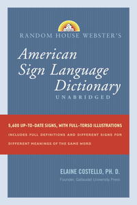 Random House Webster's American Sign Language Dictionary - Elaine Costello (Hardcover) - Cover