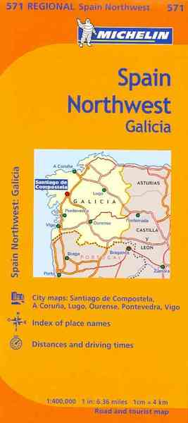 Travel Map Of Spain.Michelin Map Spain Northwest Galicia Michelin Travel Lifestyle Paperback