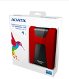 ADATA DashDrive Durable HD650 1TB 2.5 Inch USB 3.0 External Hard Drive - Red