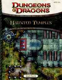 Dungeons & Dragons Haunted Temples Map Pack - Wizards of the Coast (Paperback) - Cover