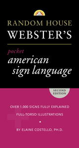 Random House Webster's Pocket American Sign Language Dictionary - Elaine Costello (Paperback) - Cover