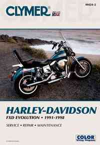Harley-Davidson Fxd Evolution 1991-1998 - Clymer Publications (Paperback) - Cover