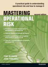 Mastering Operational Risk - Tony Blunden (Paperback) - Cover