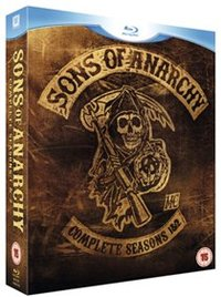 Sons of Anarchy: Complete Seasons 1 and 2 (Blu-ray) - Cover