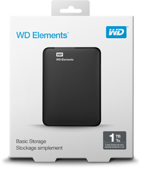 WD 1TB Elements SE 2.5 inch External Hard Drive - Cover