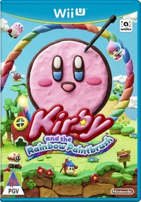 Kirby and the Rainbow Paintbrush (Wii U) - Cover