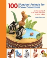 100 Fondant Animals For Cake Decorators - Helen Penman (Spiral bound) - Cover