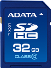 ADATA SDHC V2 Class 10 High Speed 32GB SD Memory Card