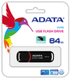 ADATA DashDrive UV150 64GB USB 3.0 Flash Drive - Glossy Black