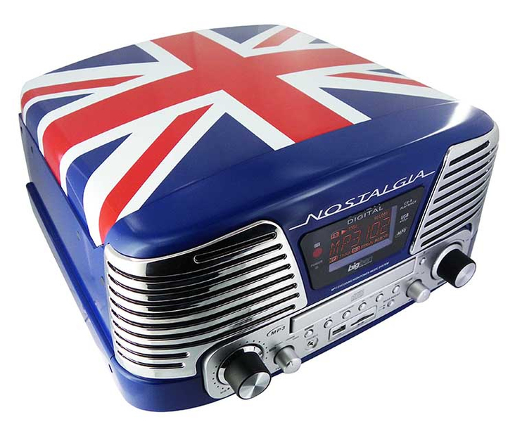 bigben td79 turntable radio cd player encoder mp3 union jack raru. Black Bedroom Furniture Sets. Home Design Ideas