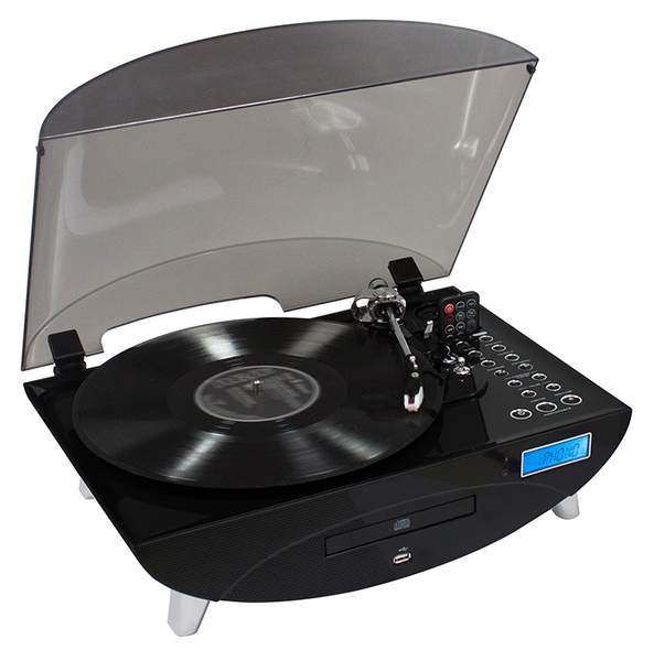 bigben td97 turntable futuristic black electronics online raru. Black Bedroom Furniture Sets. Home Design Ideas