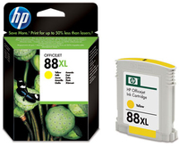 HP No 88 Yellow Ink Large Cartridge - Cover