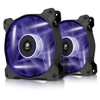 Corsair AF120 Quiet with Purple LED x2 (twin pack) - 120x120x25mm