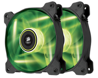Corsair SP120 LED - Green - x2 (twin pack) - 120x120x25mm - Cover