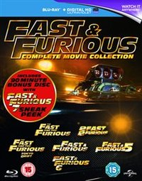 Fast & Furious 1-6 / Fast & Furious 7 Sneak Peek (Blu-ray) - Cover
