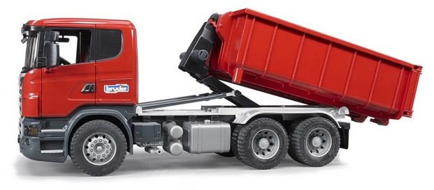 799400a56319 Bruder Toys - SCANIA R-Series Truck w/Roll-Off-Container