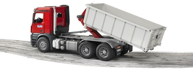 a799aafbf4fe Bruder Toys - Mercedes-Benz Arocs Truck w/Roll-Off-Container