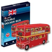 CubicFun - Double Decker Bus (UK) 3D Puzzle (66 Pieces) - Cover