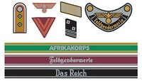 Tamiya - 1/35 WWII German Insignia Decal Set Africa/Waffen - Cover