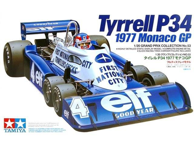 Tamiya - 1/20 - Tyrrell P34 1977 Monaco GP (Plastic Model Kit)