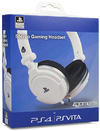 4Gamers - Wired Stereo Dual Format Gaming Headset - White (PS4/PS VITA)