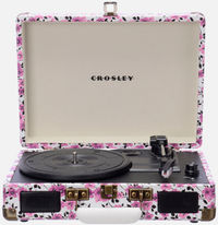 Crosley Cruiser Purple Ditsy Floral Portable Turntable