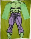 Hulk Marvel Fleece Lounger Green and Purple (One Size)