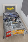 Lego DC Superheroes Kapow Panel Duvet Set (Single) Cover