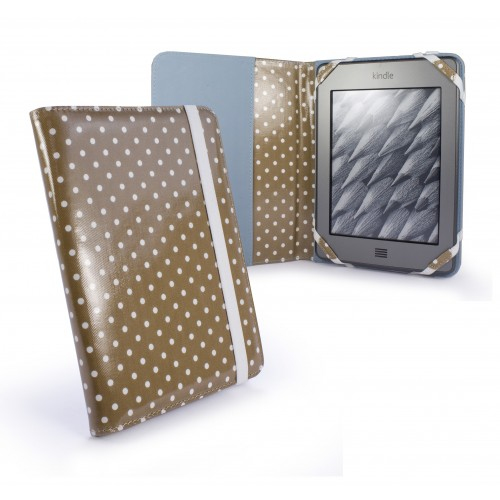 Tuff-Luv Polka Hot for Kindle Touch / Kindle 4 Paper White - Gold