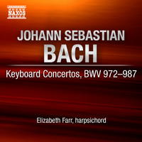 J.S. Bach / Farr - Complete Concertos For Solo Harpsichord (CD) - Cover