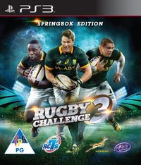 Rugby Challenge 3 - The Springbok Edition (PS3) - Cover