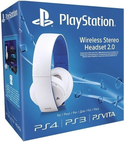 Sony PlayStation Wireless Stereo Headset 2 0 - White (PS4/PS3/PS VITA)