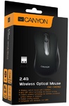 Canyon Wireless Optical 3 Button Mouse - Black