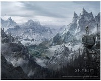 Skyrim Fabric Wallscroll Valley - Cover